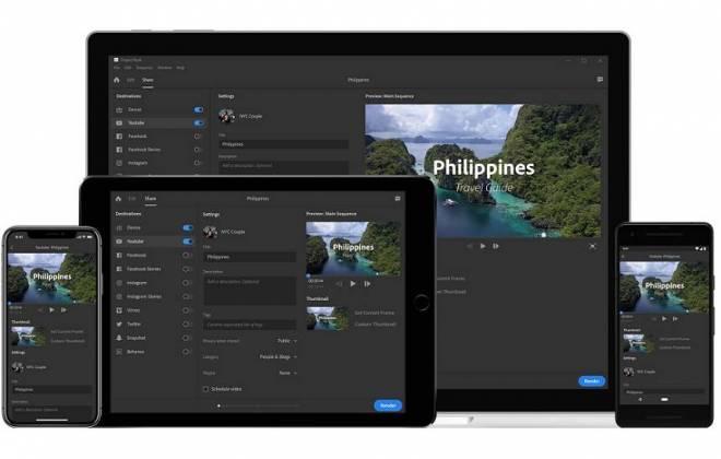Adobe anuncia Premiere Rush CC – App para edição de vídeo para redes sociais